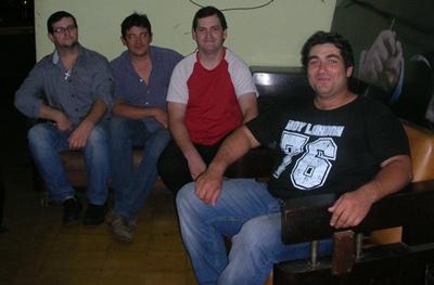 Darío Corcoll, Angelo González, Diego Corcoll y Guillermo García Real en EL PUEBLO