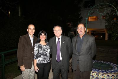 Dr. Hugo Ferreira, Dra. Silvia Massara, Dr. Fulvio Gutiérrez, Dr. Carlos Blanc.