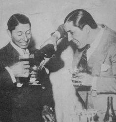 Con Carlos Gardel