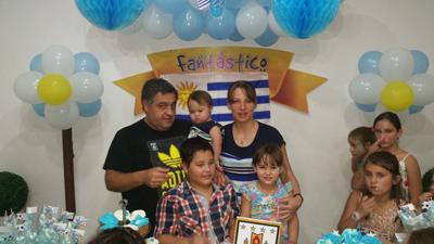 Gonzalo Dufour con su familia