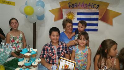 Mamá de Gonzalo Dufour y nietos