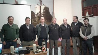 Representantes del SUL, CALSAL y Central Lanera en un momento de la reunión