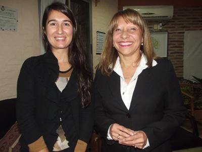 Con la Dra. Cecilia Espalter  Mufollini y la Licenciada en  Fisioterapia Nelly Rosas