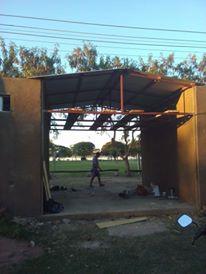Parte de la construcción a punto de culminarse en la Obdulio Varela