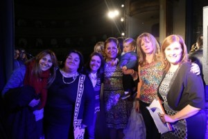 Alinson Moraes profesora de peluquería de la Asociación Down, Adriana Martínez, Carola Abogadro, Gloria Marquez, Ignacio Beaz Molinari, Mary Baranov y Fernanda Ferreira