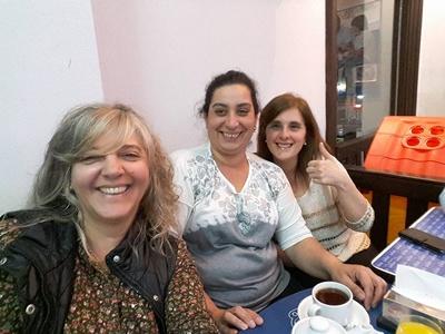 Silvia, Carolina y Fernanda