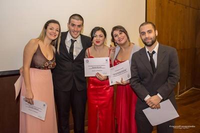 Carolina Menoni, Luis Giacchero, Fame Morales, Macarena Montes de Oca y Mathías Gaudín