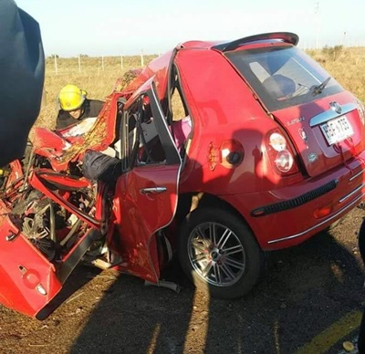Deshecho: el auto que conducía Wilton Aguilera quedó destruido