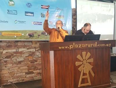 Francisco Cánepa rematando en el Plazarural