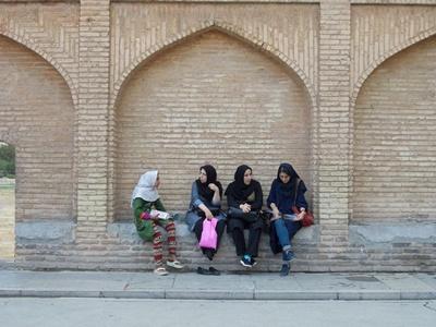 Jóvenes mujeres en Irán