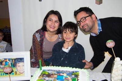 Sus padres Federico Román y Pastorina Fagúndez