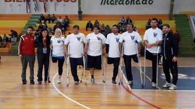 Selección uruguaya de fútbol de amputados en el Campus de Maldonado