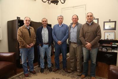 Enrique Beriau, Julio Gaudín, Juan Luis Gaudín, Miguel Olegui y Germán Gaudín