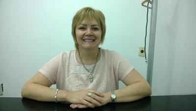 Con la Dra. Carolina Lluberas. Médica Geriátrica. Encargada de Hogar de Ancianos de ASSE