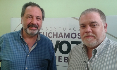 Jorge Gandini con Pablo Bonet en EL PUEBLO