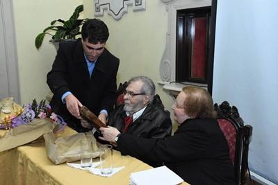 Ocasión en la que el  Arq. Rodríguez Musmanno  fue reconocido  ciudadano ilustre
