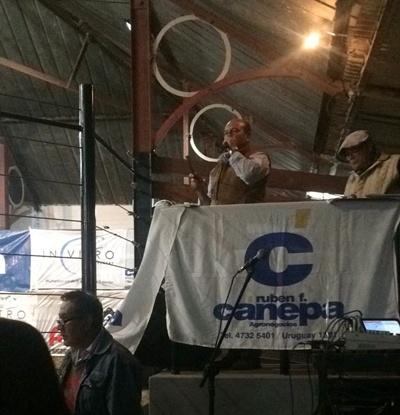 Francisco Cánepa  condujo la venta  del Frigorífico Modelo  ayer en Artigas