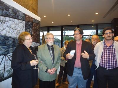 Mirtha Talda Andrasik, Rodríguez Musmanno, Jorge de Souza y Regino López (Intendencia de Salto)