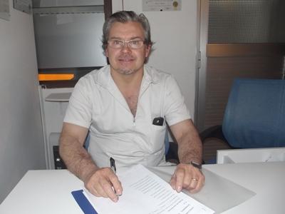 Con el Doctor Juan Eduardo Lema Ocampo Otorrinolaringólogo