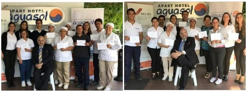 Funcionarios de Apart Hotel Aguasol (doble turno).