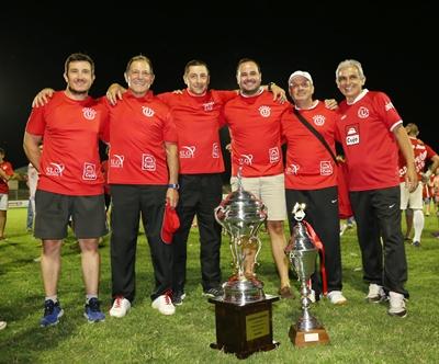 """El """"Profe"""" Ribero, Ramón, Emilio, Dr. Manuel Azambuja, """"Palito""""  Márquez y """"Fandango"""". La cúpula del mando técnico"""