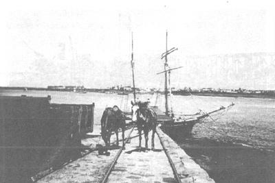 Muelle de La Caballada en su primera época