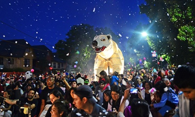 Cientos de miles de personas de varias naciones, participaron de la fiesta