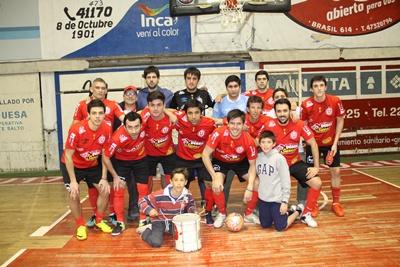 """Equipo de Universitario Futsal, el rojo de la """"U"""" es el único puntero de la competencia en la divisional """"A"""",  también firme candidato, y favorito, a """"luchar"""" por el título en la presente temporada de la disciplina a nivel local"""