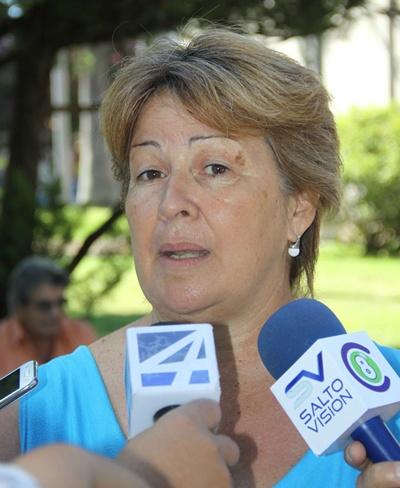 Patricia Spinelli, presidente del Sindicato Policial de Salto