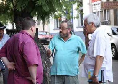Sergio Richard, José Luis Pertusatti y Roque Escobar. La dirigencia clubista