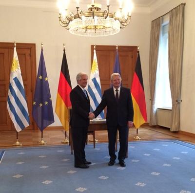 Vázquez también fue recibido por el presidente de Alemania Joachim Gauck