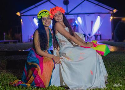 Mariana y su hermana Guadalupe