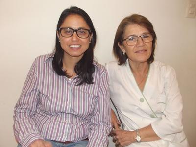 Con las Dras. en Odontología: Fabiana Beneditto y Pamela Bacci