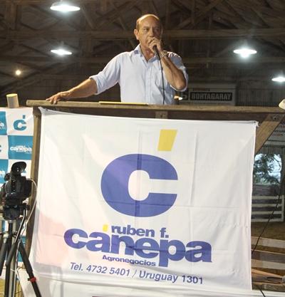 Francisco Cánepa condujo las ventas ayer en la Agropecuaria