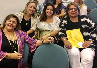 En las jornadas. Miriam Isoardi, Ariane Albernaz, Alejandra Borges y Ana Ferrand