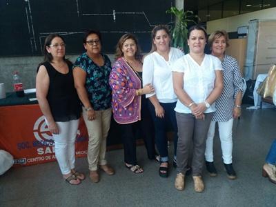 Ulma Morales, Lucy Coceres, Miriam Isoardi, Yanina Suarez, Valeria Yacques y Sonia Castro