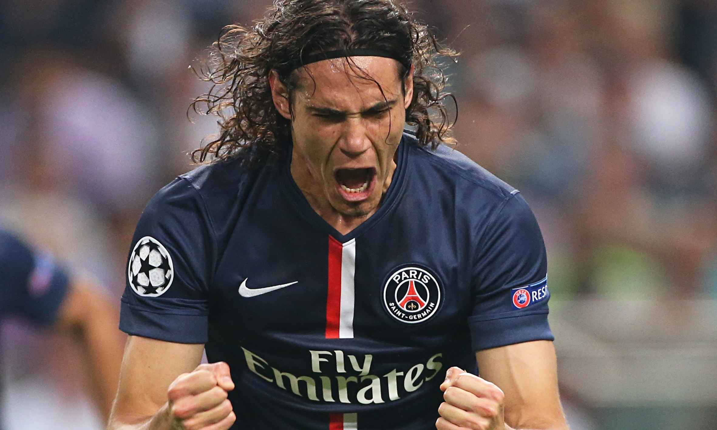 Edinson Cavani. Happy