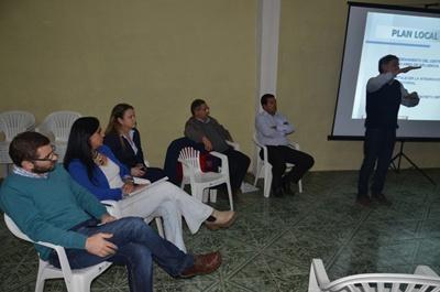 Un momento de la reunión realizada en la Junta Local