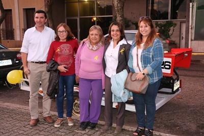 Carlos Lura, Alba Curbelo, Angelie Urruzola, Andrea Cardozo y Luz Marina Favier ayer en la presentación del SAC en Plaza Artigas
