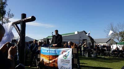 El presidente de la Federación Rural del Uruguay procedió a leer el mensaje final