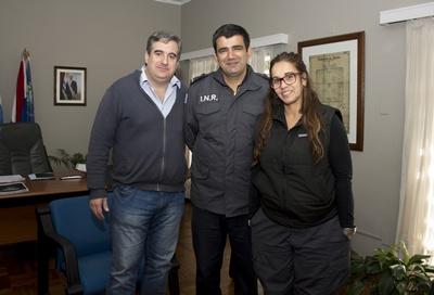 Fabián Bochia, Miguel Catelotti y Avelina Borda del INR