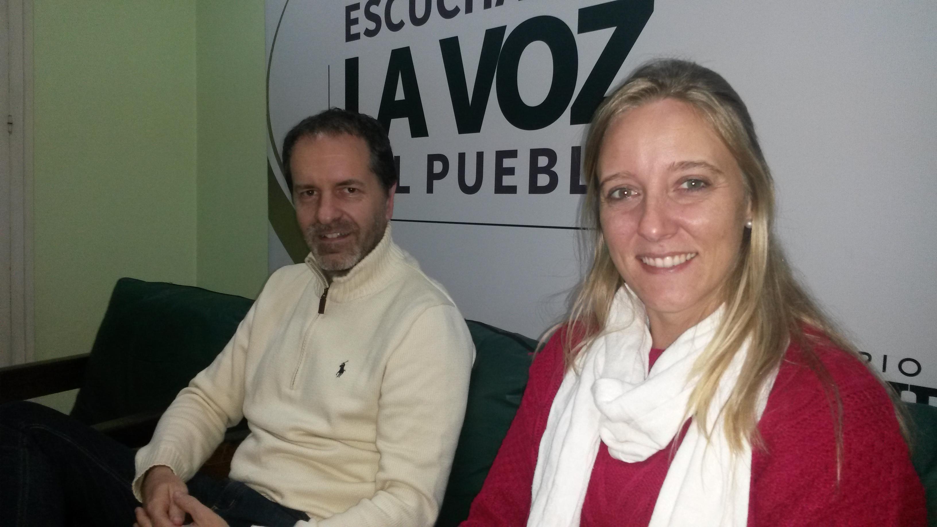 Juan Cruz Mathus y Nadia Cutro