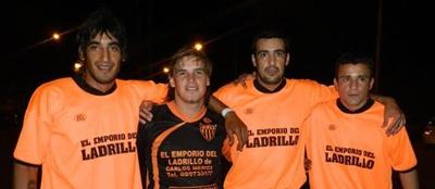 José Mario Alonso, Ruben Albarenque, Jonhy Alonso y Jonathan Machado. El no tan distante tiempo de jugador
