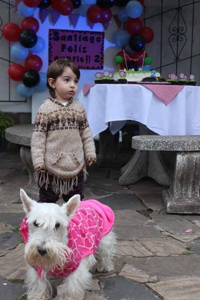 Santiago Girard Lechini, 2 años