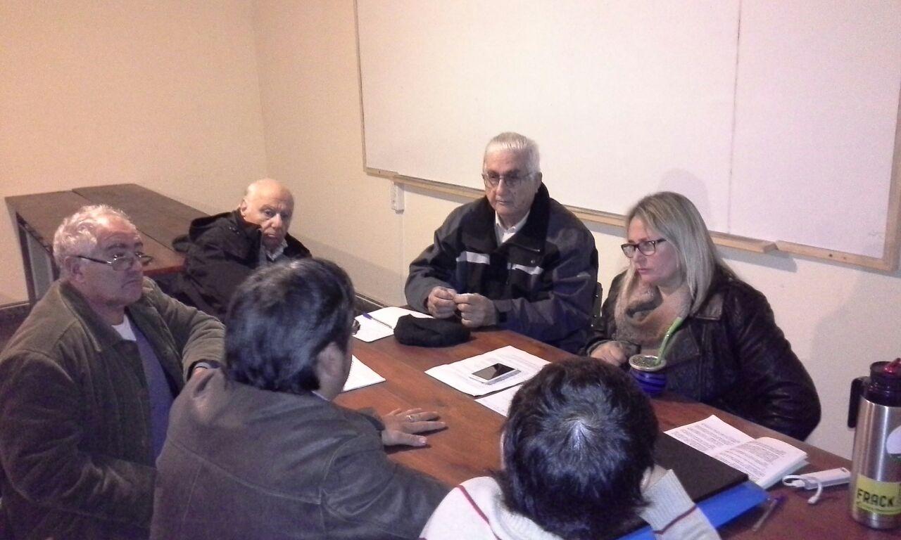 Una reunión del grupo ambientalista