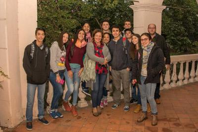 Alumnos y los profesores Soraya Machado y Jorge Pignataro
