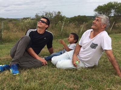 Alberto, su  hijo y su nieto