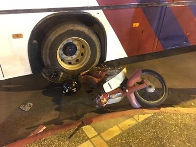El accidente ocurrió anoche en Av. Solari y Orestes Lanza