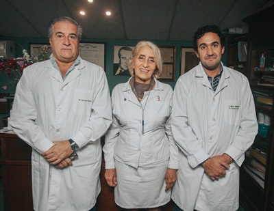 Dr. Germán Amorim, Técnica Hilda María Amorím, Dr. Fernando Lavista