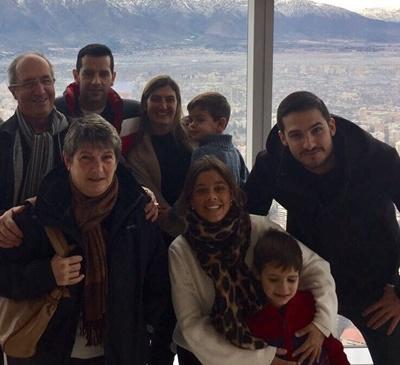 Ricardo Scaparoni y familia